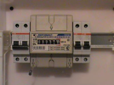 Установка электросчетчика 7