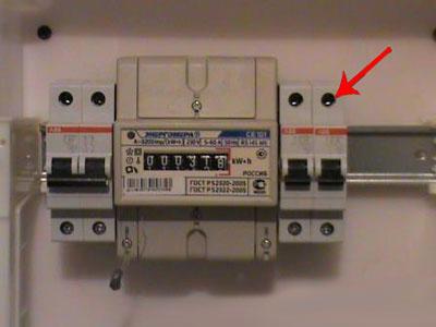 Установка электросчетчика 16