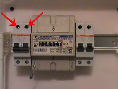 Установка электросчетчика 13