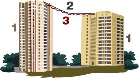 Два дома соединенные воздушкой