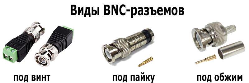 виды BNC разъемов